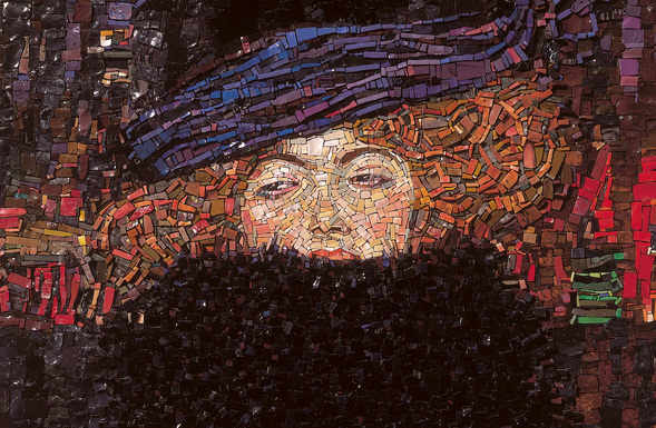 deferranti-glass-mosaic-the-woman-with-the-feather-boa-detail