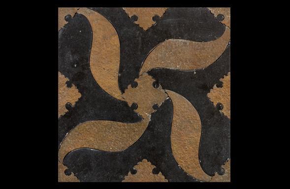 deferranti-inlay-pinwheel-brass-into-black-limestone-tile