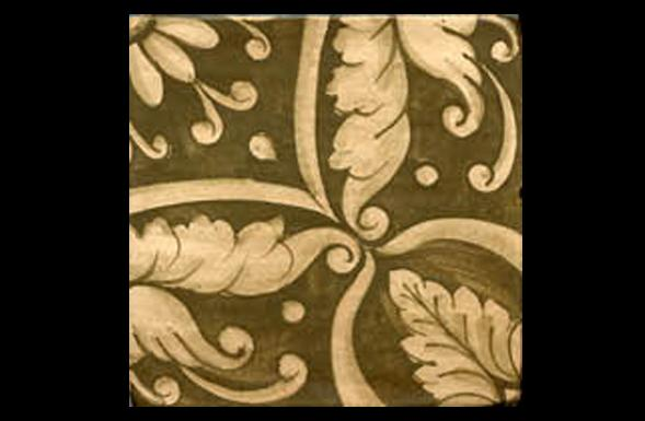 deferranti-italianate-leonarda-olive-green-and-white-handpainted-terracotta-tile