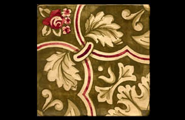 deferranti-italianate-rosellina-olive-green-and-red-handpainted-terracotta-tile